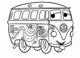 Coloring Vw Camper sketch template
