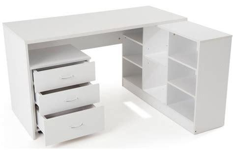 bureau en imitation bois blanc avec retour trend design en direct de l usine sur sofactory