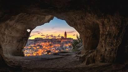 Cave Night Italy Buildings 4k Uhd