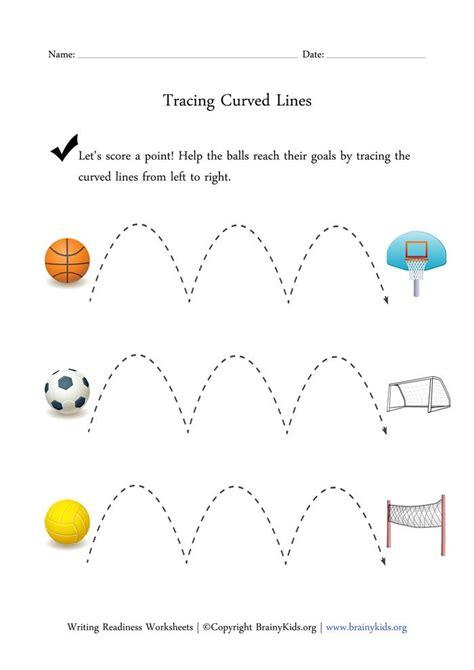 tracing curved lines worksheet printable worksheets