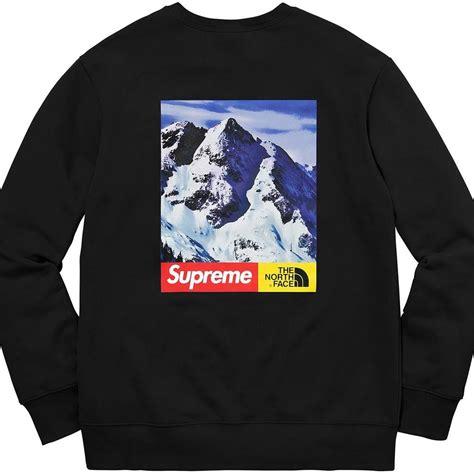 supreme   north face mountain crewneck sweatshirt black sweatshirts strictlypreme