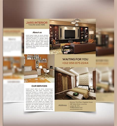 interior design flyers psd eps word ai design