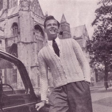 roger moore model knit for victory roger moore licensed to model knitwear