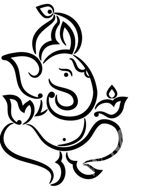 Pics For > Ganpati Images For Drawing | stamp ideas | Pinterest | Ganesha and Ganesh