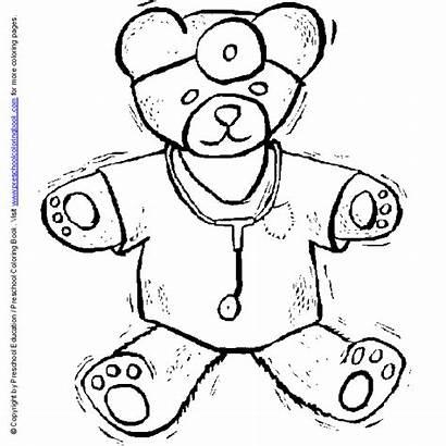 Coloring Pages Nurse Doctor Preschool Hospital Medical
