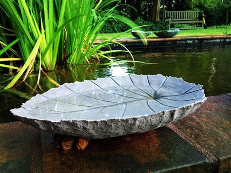 bird bath water unique wiggler baths concrete feeders shapes fountain heater za leafi birds leaves