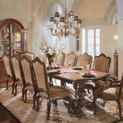 italian dining room sets universal furniture villa cortina pedestal rectangular dining set by dining rooms outlet