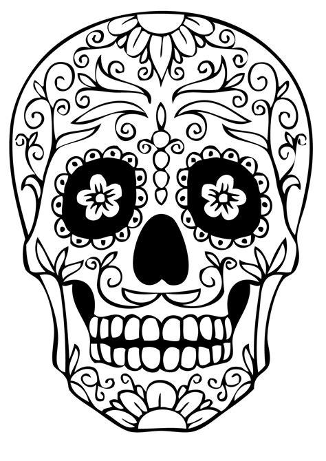 Day Of The Dead Have Them Realistically Shade The Skull