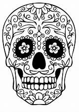Skull Coloring Sugar Printable Bestcoloringpagesforkids sketch template
