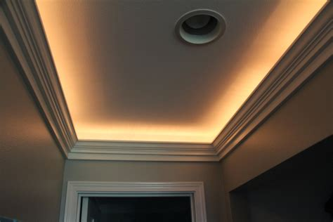 recessed ceiling crown molding crown add recessed outlet with switch armchair builder