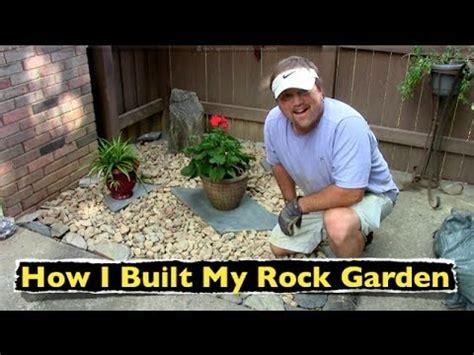 built  rock garden backyard landscaping youtube