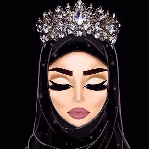 pin  luxyhijab  hijab illustration rsomat alhjab