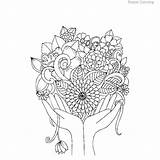Coloring Printable Decoration sketch template