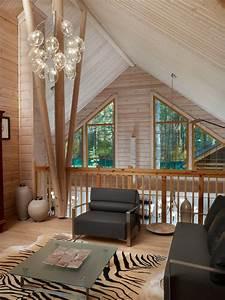 Moderne Bilder Wohnzimmer : moderne wohnzimmer bilder blockhaus pinus homify ~ Udekor.club Haus und Dekorationen