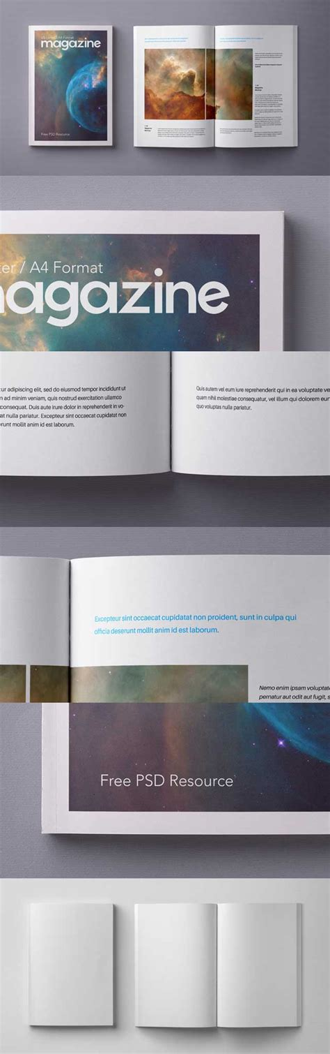 12 3.5 page 1 of 5. Free A4 Magazine Mockup Template Psd