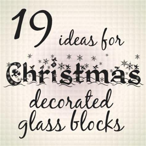 glass blocks ideas  christmas  glasses  pinterest