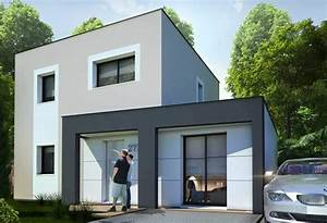 plan maison plain pied 50m2 idee plan maison etage With idee maison plain pied 11 maison contemporaine modele