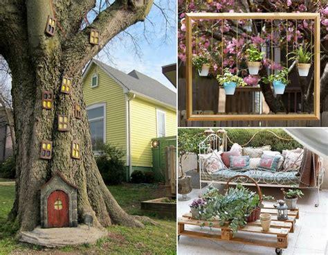 siege de jardin suspendu décor de jardin à faire soi même 25 idées originales pas
