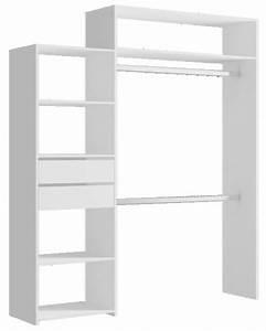 Kit Dressing Brico Depot : kit d 39 am nagement de placard carolina blanc 2 tiroirs ~ Melissatoandfro.com Idées de Décoration