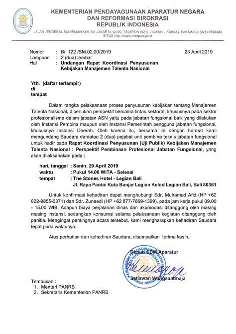 surat undangan rapat koordinasi penyusunan kebijakan