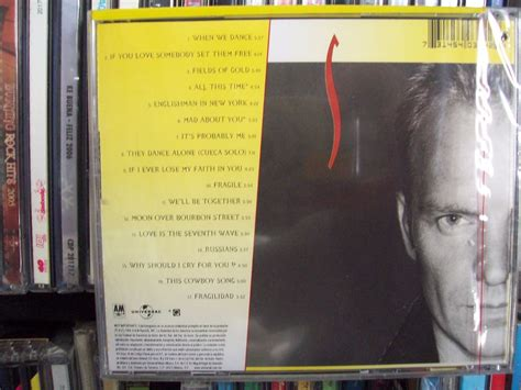 sting fields of gold best of sting fields of gold the best of sting 1984 1994 cd nuevo