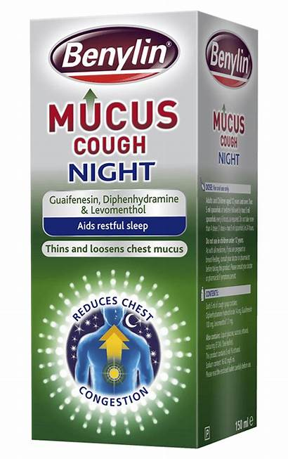 Benylin Cough Mucus Night Medicine Dry Chesty