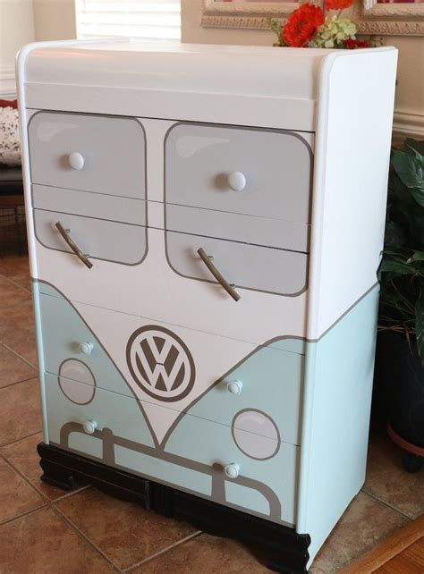 vw bus chest  drawer makeover   dreamy bedroom