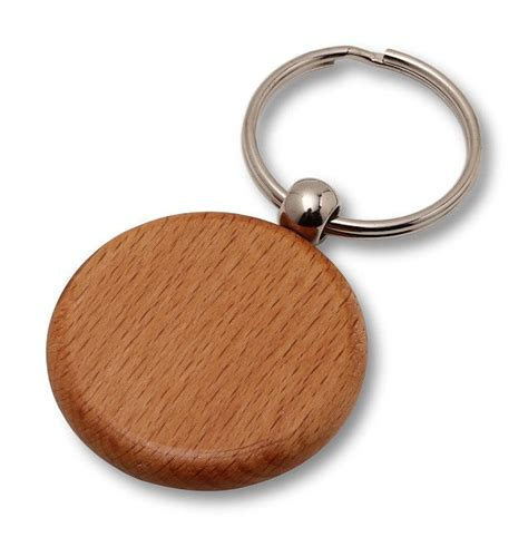 wholesale lot of 50 blank wooden key chain tags circle diy key chains chains and key