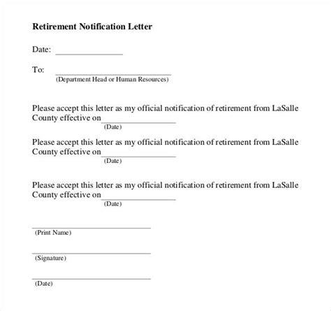 simple retirement letter 6 simple retirement letter templates pdf doc free 8744