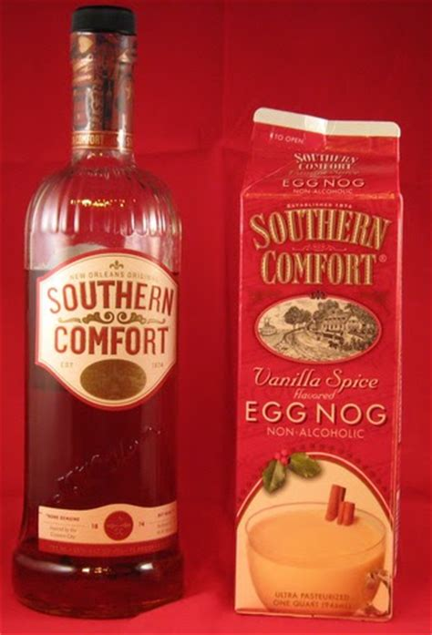 southern comfort eggnog the bottle is a a southern cheer