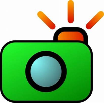 Camera Clip Clipart Flash Flashing Kamera Vector