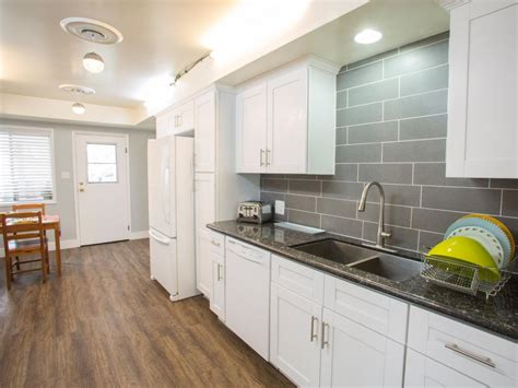 White And Gray Kitchen With Quartz Countertops