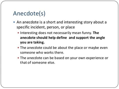 anecdote defined helpful essay writing writing help
