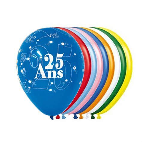 decoration anniversaire 25 ans achat vente ballon 25 ans x8 d 233 co de salle anniversaire petit prix