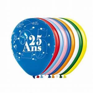 Décoration Anniversaire 25 Ans : achat vente ballon 25 ans x8 d co de salle anniversaire ~ Melissatoandfro.com Idées de Décoration