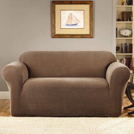 Loveseat Cover Walmart by Sure Fit Stretch Metro 1 Sofa Slipcover Walmart