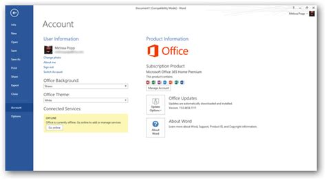 Office 365 Account by A Look At Microsoft Office 365 Word
