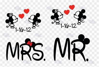 Mickey Minnie Mouse Mrs Mr Kissing Kiss