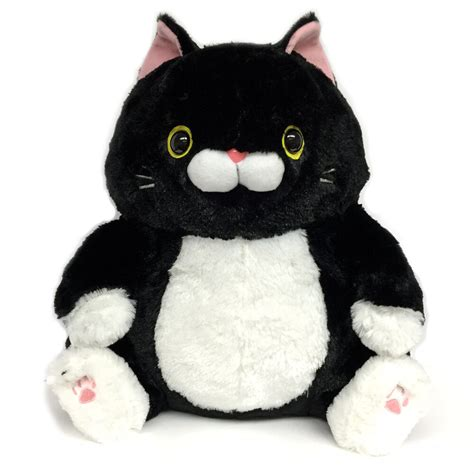 amuse nyanko deluxe plush cat stuffed animal black cat