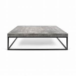 Table Basse En Beton : temahome table basse 120cm petra b ton m tal noir paris prix achat vente table basse ~ Farleysfitness.com Idées de Décoration