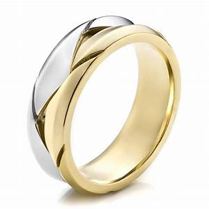 men39s braided two tone wedding band 100125 bellevue With mens braided wedding ring
