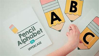 Alphabet Printable Pencil Classroom Bulletin Boards Decor