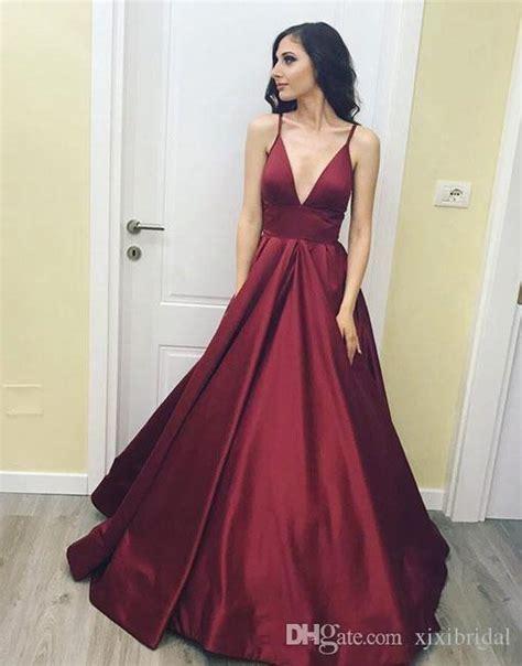 black deep v neck prom dress