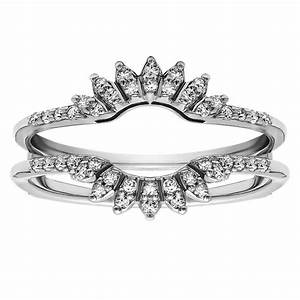 15 inspirations of wrap around engagement rings wedding band With wedding band around engagement ring
