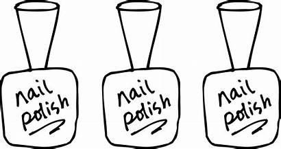 Nail Clipart Polish Coloring Nails Bottle Clip