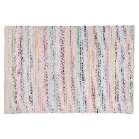 land of nod rugs multicolor tufted rag rug the land of nod