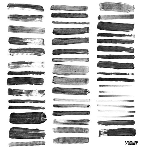 163 wet paint strokes brush set brushes on creative market