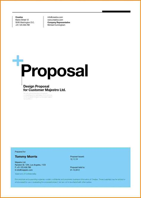 cover letter pages template 7 business proposal title page quote templates