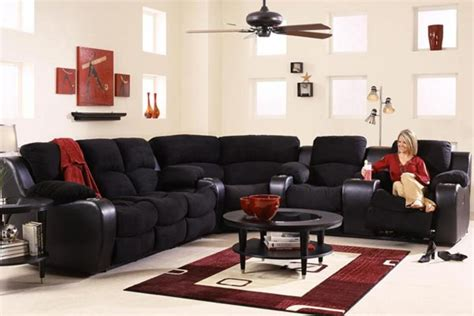 Reclining Sectional Sofas Microfiber by Vanti 3 Microfiber Reclining Sectional At Gardner White