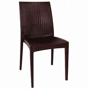 Chaise Rotin Gris : lot chaises en rotin gris anthracite gastromastro group sas ~ Teatrodelosmanantiales.com Idées de Décoration